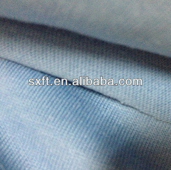80% cotton and 20% polyester single jersey fabric,one side cotton one side polyester