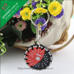 Customized promotional giveaway gift 3D soft PVC fancy key rings