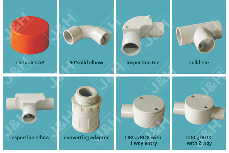 AS/NZS 2053 PVC pipe 4 way entry junction box 20mm, Australia New zealand Fiji PNG 20mm diameter plastic junction box