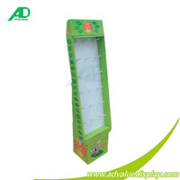 Promotion supermarket advertising laptop corrugated shelf paper food display cabinet cardboard water baby toys retail display