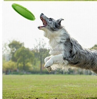 New pet products Natural Rubber Frisbee chewing dog toys pet toys