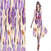 2014 New Floral Print Silk Stretch Satin Fabric For Summer Travel