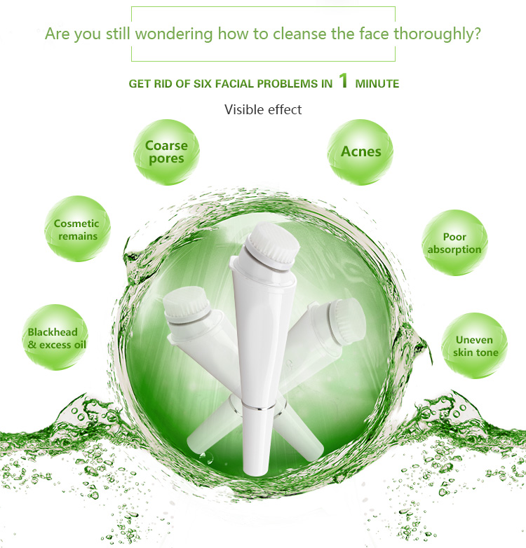 Intelligent nucleaner facial cleansing brush homemade beauty personal care support oem and odm new product