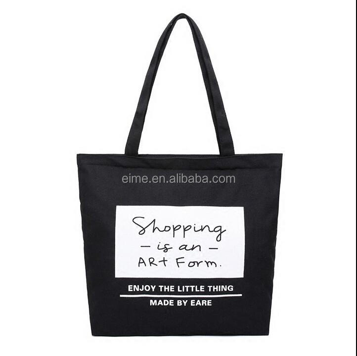 Wholesale New Design Eco-friendly Top Quality Cotton Silk Screen Printing Personalized Shopping Bag