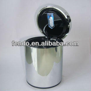 Black plastic stand up ashtray for cars