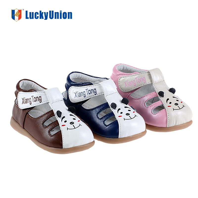 Cute Cartoon Soft Leather Baby Unisex Sandals Baby Animals Shoes