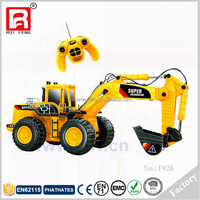 High Realistic Super Yellow Plastic Remote Control Excavator Radio Control Toy RC Excavator for Sale