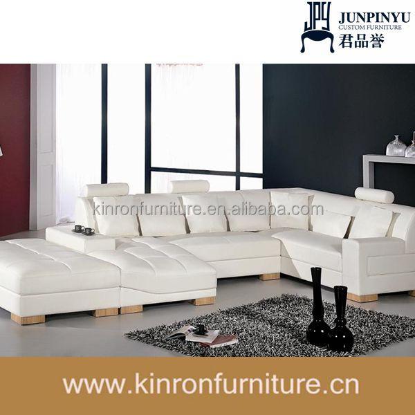 피렌체 현대적인 흰색 가죽 단면 거실 가구 거실 소파-거실 소파 ...
