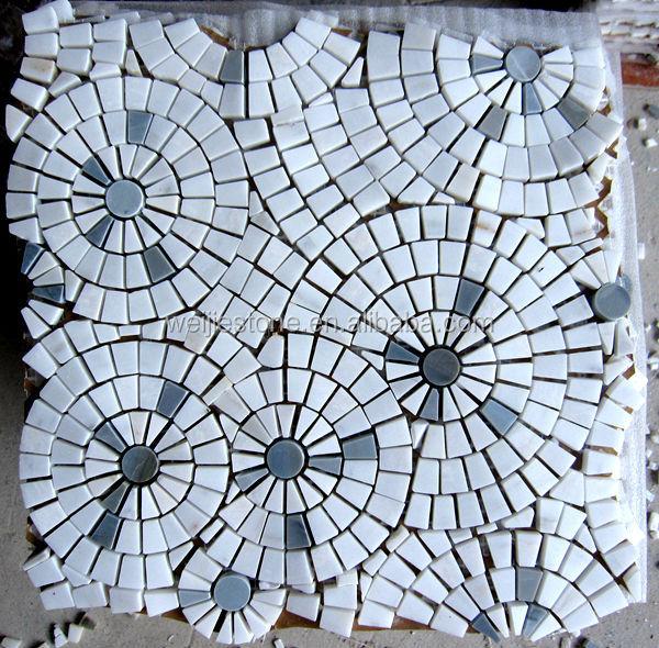 Mosaic tile floor patterns
