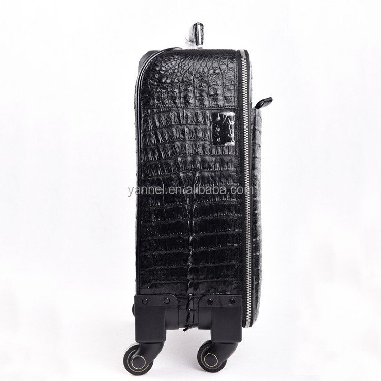 Crocodile skin traveling luggage_crocodile Luggage #exotic products# luxury handstitched# worldtraveler #luxurylifestyle