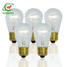 Outdoor Decor 11w Incandescent Transparent E27 S14 Edison Tungsten Glass Bulb