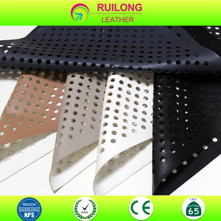Synthetic perforated leather for making bags synthetic nubuck leather for shoes