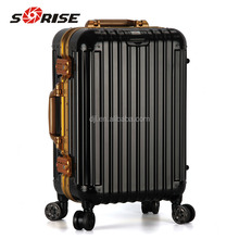 2016 Sun Hope Newest Design Travel Aluminum Trolley luggage With GPS on 4 Wheels For