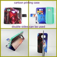 transformers leather printing phone case wallet for samsung galaxy s6 edge s6 s5 s4 s3 with card slots wholesale