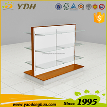 Popular design plate stand, glass display case, jewelry showcases