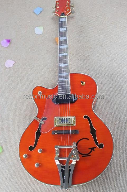 Weifang Rebon Left hand bigsby tremolo hollowbody jazz electric guitar