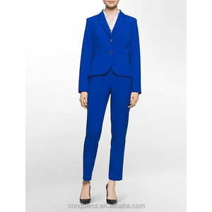 fancy ladies royal blue formal suits office suits for women