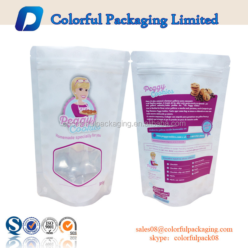 Zipper bag stand up pouch food packaging bag plastic ziplock bag shenzhen