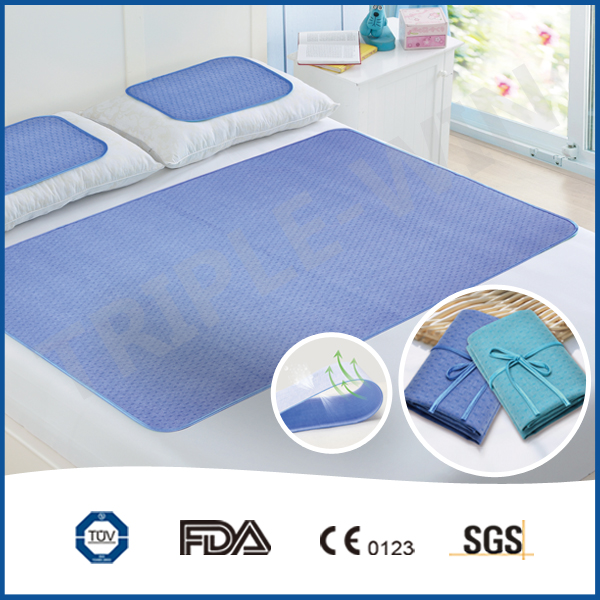 Softness blue flower printed ultrathin cooling gel mattress