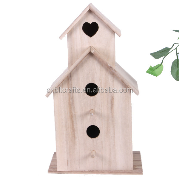 wholesale new unfinished 3 layers wooden bird cage
