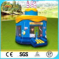 CILE Double Layer Birthday Party Cake Inflated Bouncy Castle for Kiddie Outdoor Toys
