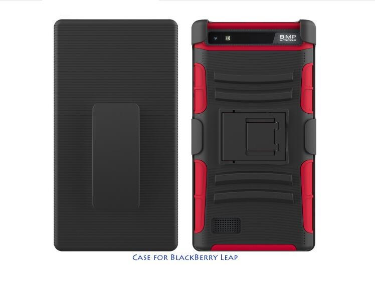 2017 Trending Product 3 in 1 Hybrid TPU PC Cover Case Silicone Armor Shockproof Phone Covers for Blackberry Z20