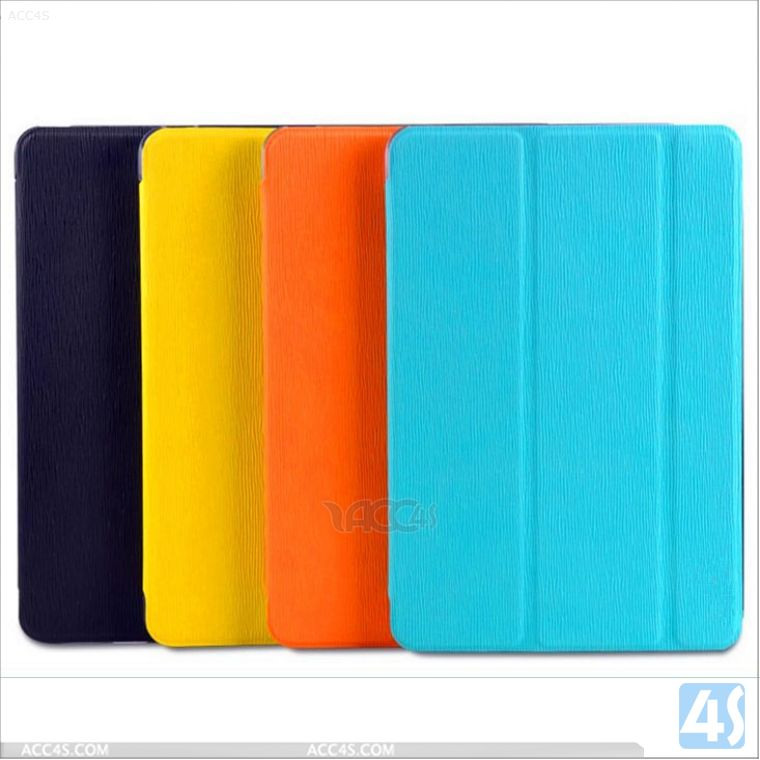 Magnetic Generator Toothpick grain 3 fold leather case for Ipad mini 2