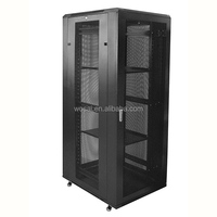 "42u rack server cabinet floor stand mesh door 19"" good ventilation"