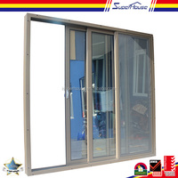 superhouse 10years warranty commercial double glass cabinet sliding door mechanism