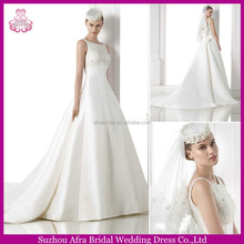 SD1362 beaded bodice elegant A line satin wedding dress pictures of beautiful wedding gowns