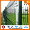 Green vinyl coated welded wire mesh guarding fencing