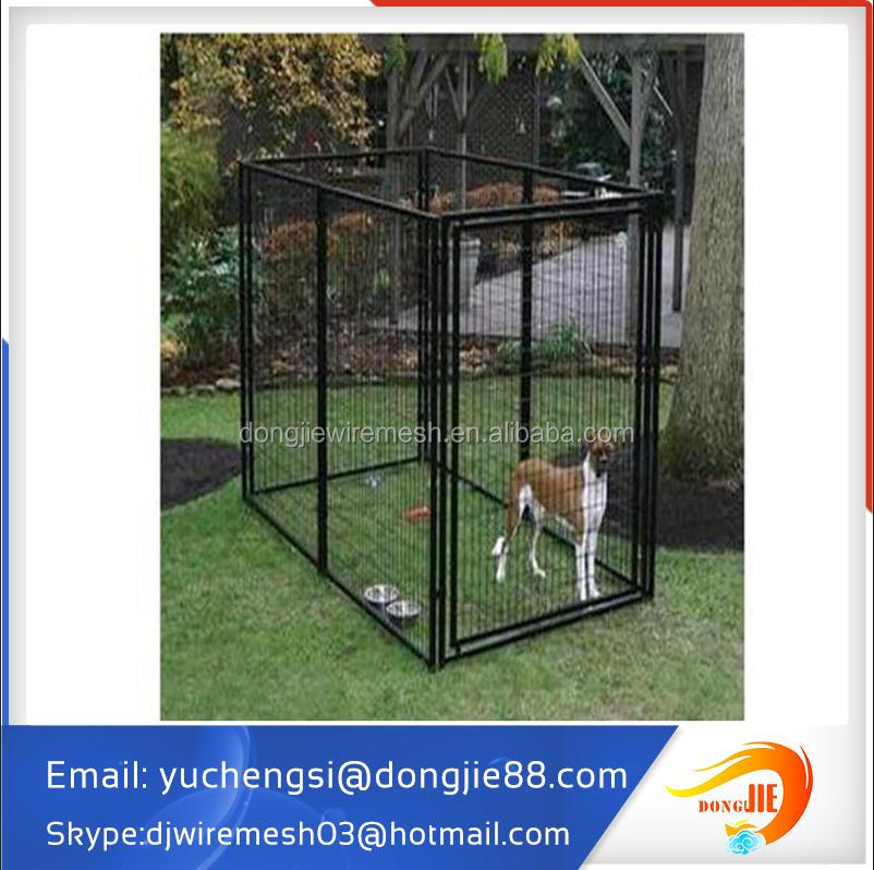 Custom logo high quality metal chain link durable dog run fence panels