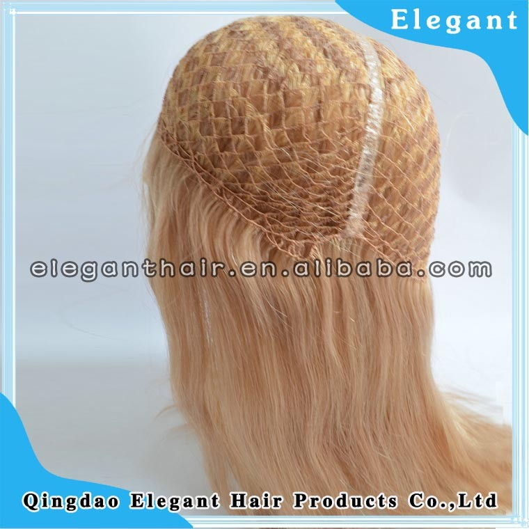 raw brazilian hair 1cm*1cm mesh fish net made free style blonde human hair full lace wig