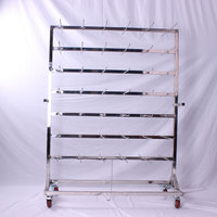 Stainless Steel SMT Reel Shelving ESD Trolley / SMT Hanging Storage Carts