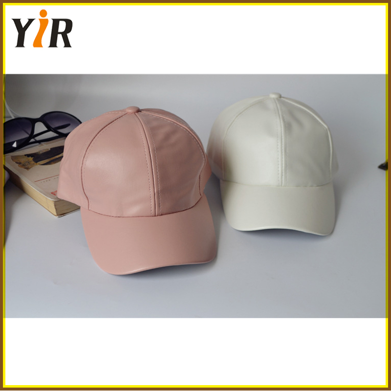 Baseball hat and high quality custom design soft leather blank hat winter cap