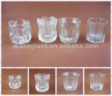 All kinds of different shape glass candle / glass candle holder / glassware