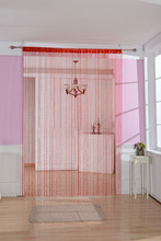 Romantic Solid Color Fringe Door Curtain Drape String with Plastic Chain