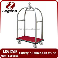 Hotel Stainless Steel Luggage Cart Steel
