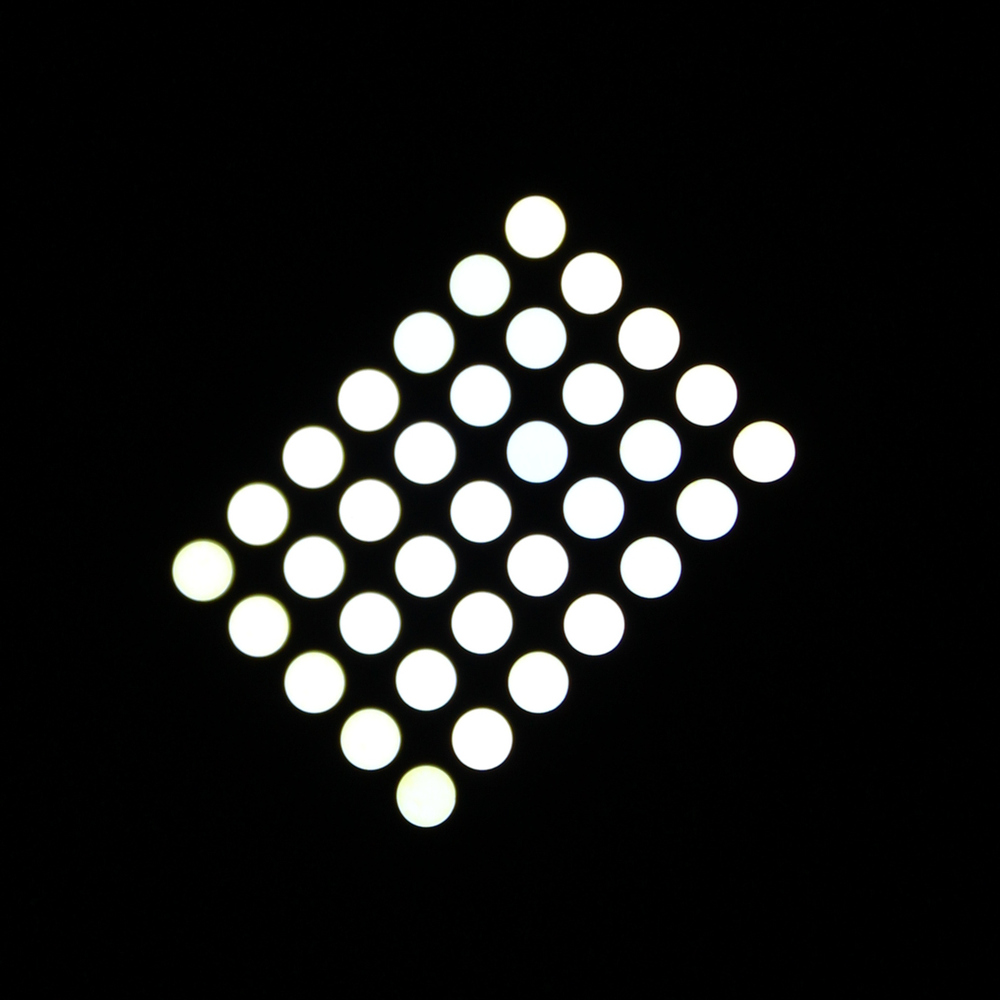 3mm dot cc/ca white epoxy 7x5 led 5x7 dot matrix display