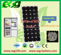 140w 2016 hot sale high efficiency monocrystalline solar panel price with top quality