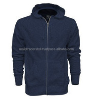 high quality and fashionable zipper up fleece jacket with hood