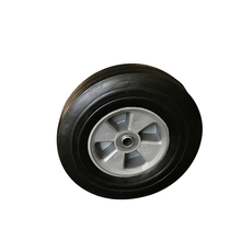 Solid rubber wheel tire 10x2.5 with bearing for wheelbarrow