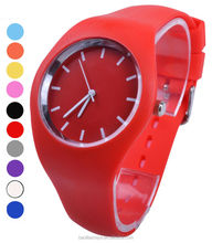 2014 Japan mvt custom silicone watch 3ATM water resistant