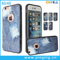 Wholesale Custom Printing Cowboy TPU Back Cover For iPhone 6S Denim Phone Case