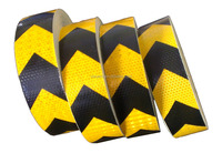 black and yellow reflective warning tape 50mm*50m