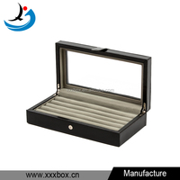 Wholesale Black Leather Jewelry Box Packaging