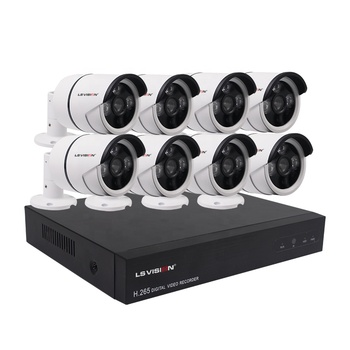 LS VISION H.265 POE CCTV Kit 8CH Outdoor IP Camera P2P Video Surveillance Home Security System