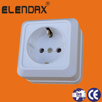 S1010 European style surface mounted schuko socket outlet 2 pin electrical sockets switches