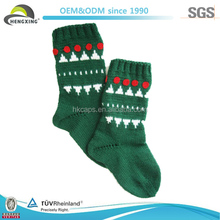 Promotional Christmas Hanging Socks In Green Color