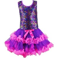 2016 New design Hot-sales Children dream sequins lovely beautiful princess dress baby skirt